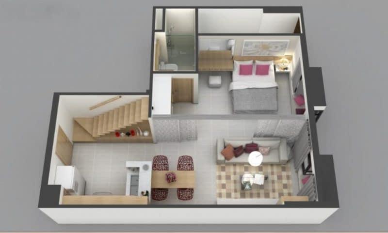 gác lửng cho chung cư 3 1024x616 - Gác lửng cho căn hộ chung cư - tại sao lại không nhỉ